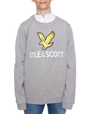 Lyle & Scott Lyle Eagle Logo LB Crew Sweat Vintage Grey Heather