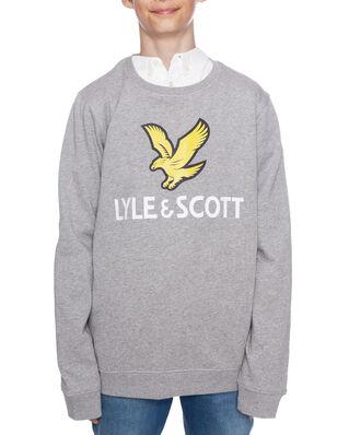 Lyle & Scott Junior Lyle Eagle Logo LB Crew Sweat Vintage Grey Heather