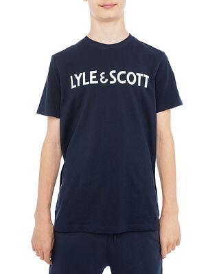 Lyle & Scott Lyle & Scott Logo Tee Navy Blazer