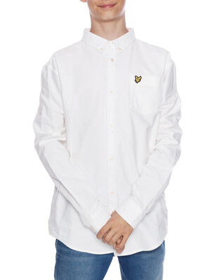 Lyle & Scott Junior Oxford Shirt LS Bright White