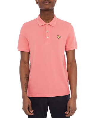 Lyle & Scott Plain Polo Shirt Punch Pink