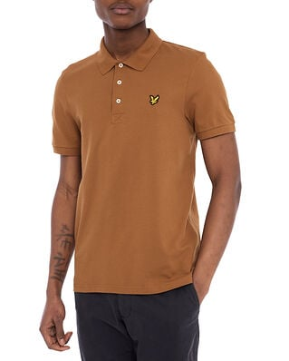 Lyle & Scott Plain Polo Shirt Tawny Brown