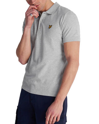 Lyle & Scott Polo Shirt Light Grey Marl