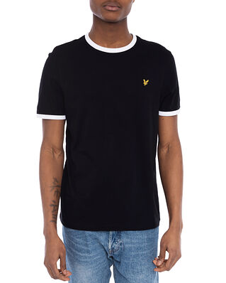 Lyle & Scott Ringer T-shirt Jet Black/White