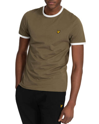 Lyle & Scott Ringer T-Shirt Lichen Green/ White