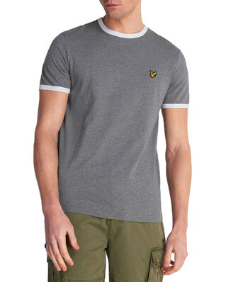 Lyle & Scott Ringer T-Shirt Mid Grey Marl/ White