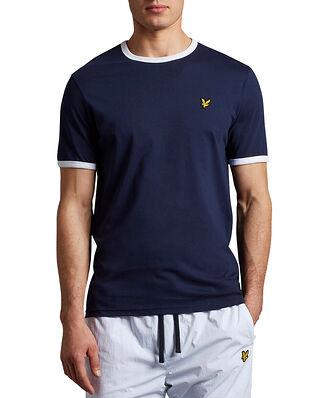 Lyle & Scott Ringer T-shirt Navy/White