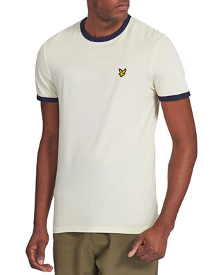 Lyle & Scott Ringer T-Shirt  White/ Navy