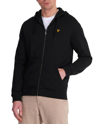 Lyle & Scott Zip Through Hoodie Jet Black