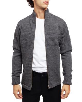 Mads Norgaard 100% Wool Klemens Zip Charcoal Melange