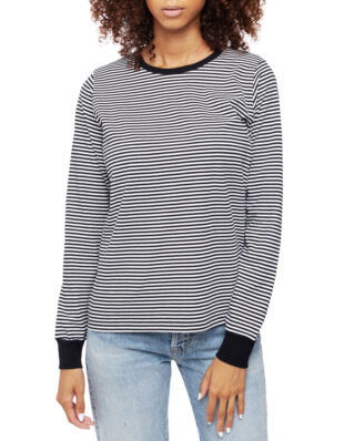 Mads Norgaard Organic Fav Stripe Trimmy L Black/White