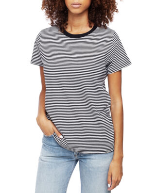 Mads Norgaard Organic Favorite Stripe Trimmy Black/White