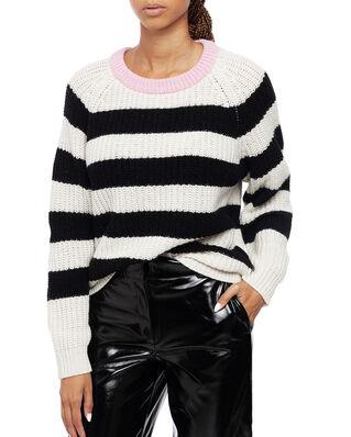 Mads Norgaard Recycled Favorite Wool Ketty Ecru/Black/Rose