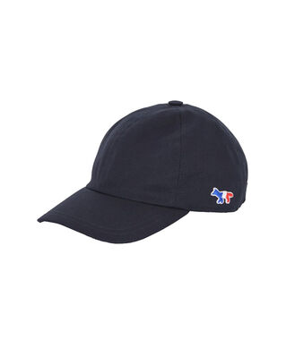 Maison Kitsuné Cap 6P Tricolor Fox Patch Navy