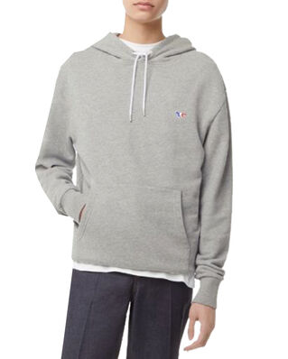 Maison Kitsuné Hoodie Tricolor Fox Patch Grey Melange