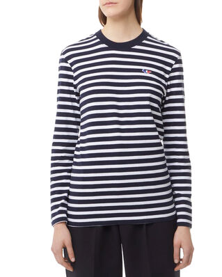 Maison Kitsuné Marin Tee-Shirt Tricolor Fox Patch Black White