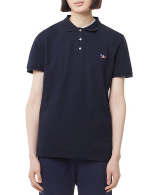 Maison Kitsuné Polo Tricolor Fox Patch Navy