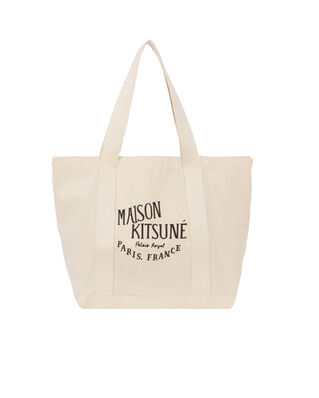 Maison Kitsuné Shopping Bag Palais Royal Ecru Black