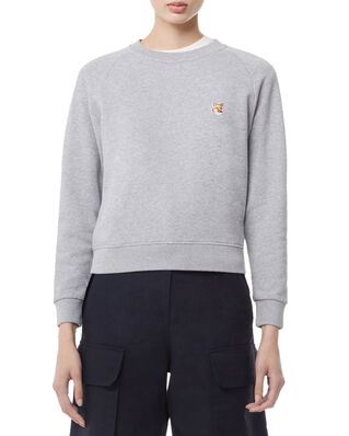 Maison Kitsuné Sweatshirt Fox Head Patch Grey Melange