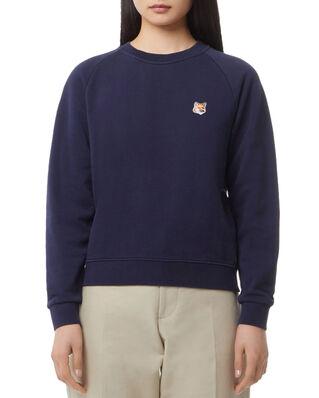 Maison Kitsuné Sweatshirt Fox Head Patch Navy