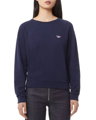 Maison Kitsuné Sweatshirt Tricolor Fox Patch Navy