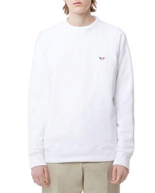 Maison Kitsuné Sweatshirt Tricolor Fox Patch White