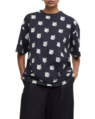 Maison Kitsuné Tee-Shirt All-Over Pastel Fox Head Black