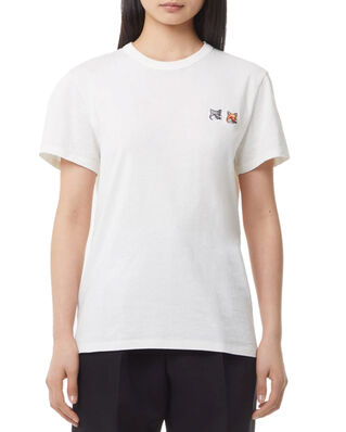 Maison Kitsuné Tee-Shirt Double Fox Head Patch Latte