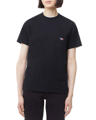 Maison Kitsuné Tee-Shirt Tricolor Fox Patch Black