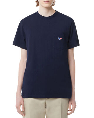 Maison Kitsuné Tee-Shirt Tricolor Fox Patch Navy