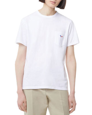 Maison Kitsuné Tee-Shirt Tricolor Fox Patch White