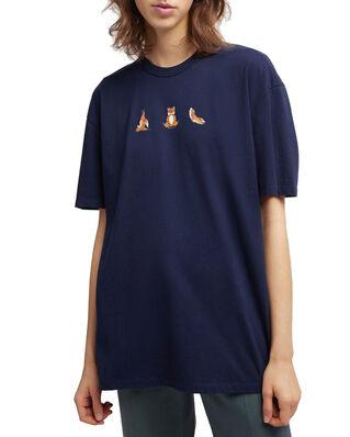 Maison Kitsuné Tee-Shirt Yoga Fox Print Navy