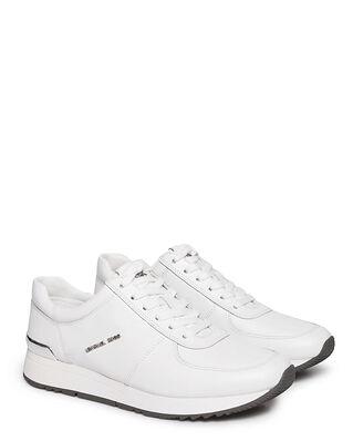Michael Kors Allie Leather Sneaker Optic White