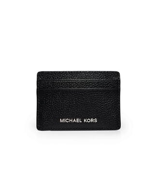 Michael Kors Pebbed Leather Card Case Black