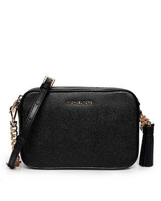 Michael Kors Ginny Leather Crossbody Bag Black