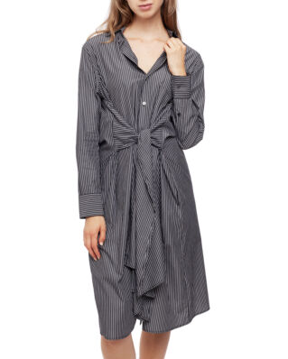 MM6 Maison Margiela Oversized Shirt Dress Stripe Grey