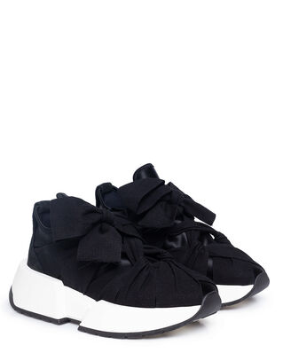 MM6 Maison Margiela Bow Detail Sneaker Black
