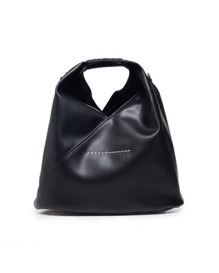 MM6 Maison Margiela Faux Leather Mini Bag Black