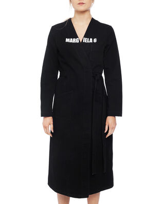 MM6 Maison Margiela MM6 Long Cotton Coat Black