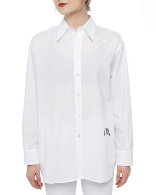 MM6 Maison Margiela Oversized Cotton Shirt White Mix Jacquard