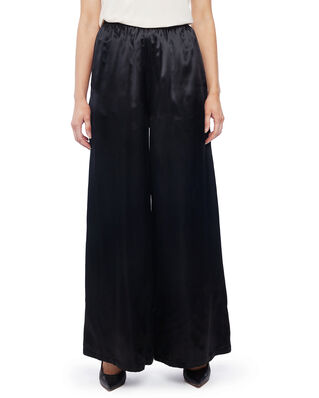MM6 Maison Margiela Viscose Wide-leg Trousers Black