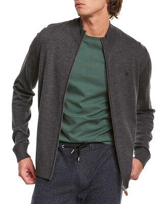 Morris Merino Zip Cardigan Grey