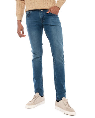Morris Steve Satin Jeans Zip Blue Wash