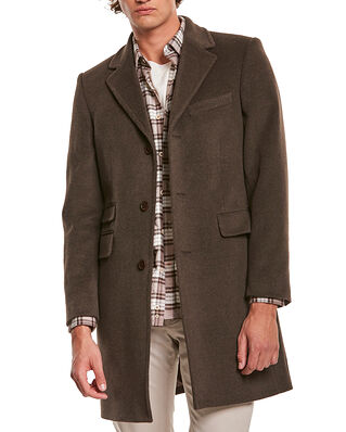 Morris Wesley Wool Cashmere Coat  Brown