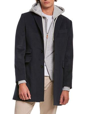 Morris Wesley Wool Cashmere Coat Navy