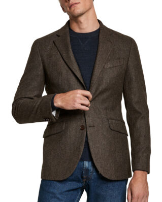 Morris Herringbone Blazer Brown