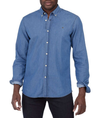 Morris Julian Button Down Denim Shirt 56 Blue