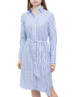 Morris Lady Chiara Striped Shirt Dress 55 Light Blue