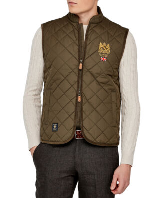 Morris Trenton quilted olive vest
