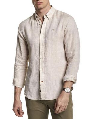 Morris Douglas Linen Shirt 06 Khaki